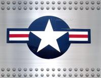 usaf star on brushed metal