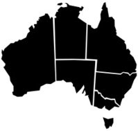 Chunky Australia Map