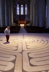 Labyrinth In Church Foyer