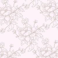Peonies Seamless Background