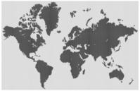 World in medium dots