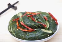 slied cucumber dish