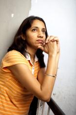 Pensive Indian Woman