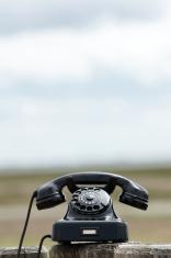 Retro Phone Outdoors
