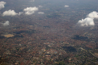 Milano in Italy, areal view from the west