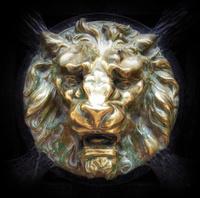 Brass Lion head Relief
