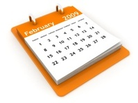 February 2009 - Orange Calendar series