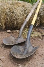Resting shovels