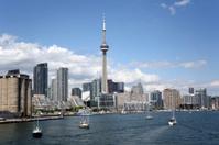 Sailboats in Toronto Harbor