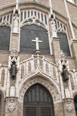 church facade with focus on cross