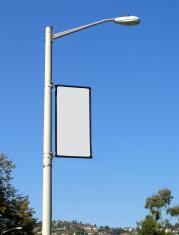 Blank Banner on Light Post