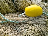 Yellow float on fishing nets