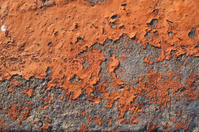 Orange concrete decay