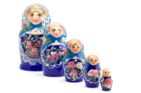 Russian souvenir on white