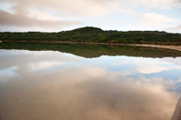 Tranquil lake Beach Port South Australia