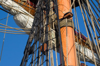 Sailing Ship Mast, Sail and Rigging