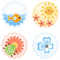 cheerful icons