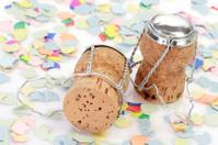 Champagne Corks with Confetti