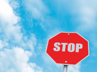 Blue Sky Stop Sign