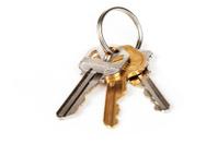 isolated house keys