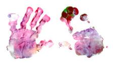 Child's fingerpainting