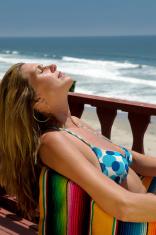 Sun Bathing Relaxation