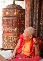 Buddhist Nun Prayer Wheel Mala