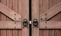 Knobs on wood gate