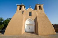 San Francisco de Asis Church Mission Ranchos Taos Adobe