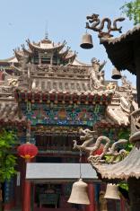 China ancient temple dragons bells shrine