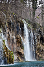 Waterfall in the Plitvice lakes national park