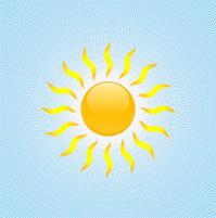 Sun on blue sky design