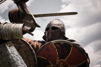 Knight in armor.