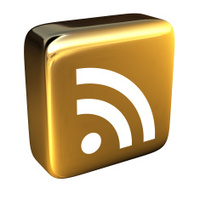 Gold RSS Icon - From Above