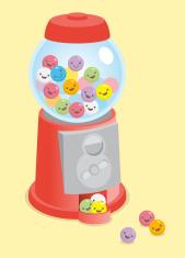 Kawaii cute gumball machine
