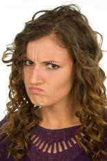 Girl Looks Angry