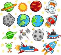Space Explorer Vector Set