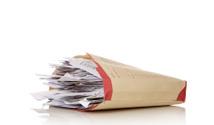 Folder full of invoices