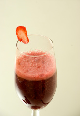 Raspberry smoothie drink