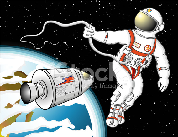 astronaut floating in space clipart - photo #13