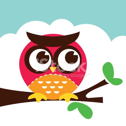 Retro owl cartoon - photo#2