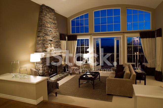 Woonkamer Estate Herenhuis Huis Windows Stockfoto S Freeimages Com