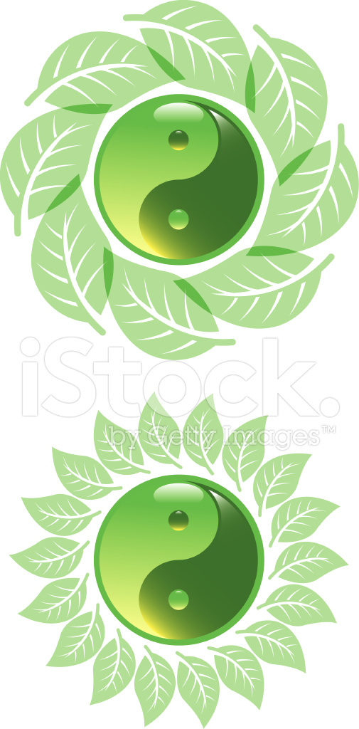 Green Yin Yang Stock Vector Freeimages