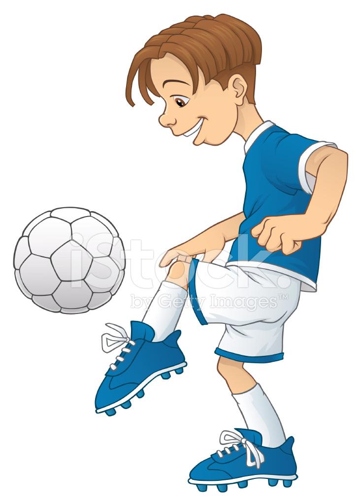 Junge Spielt Fussball Stock Vector Freeimages Com
