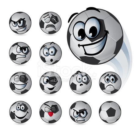 Fussball Ball Emoticons Stock Vector Freeimages Com