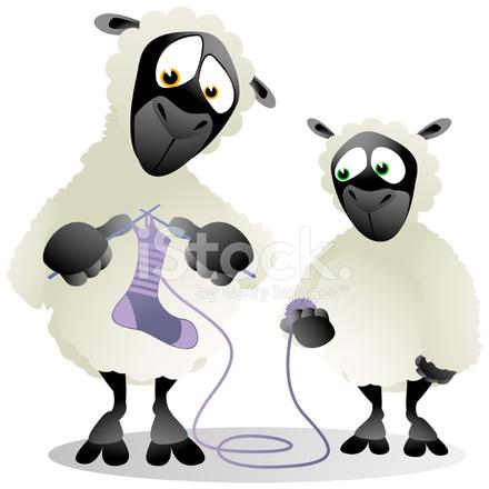 Cartoon Knitting Patterns : Sheep Knitting Cartoon stock photos - FreeImages.com