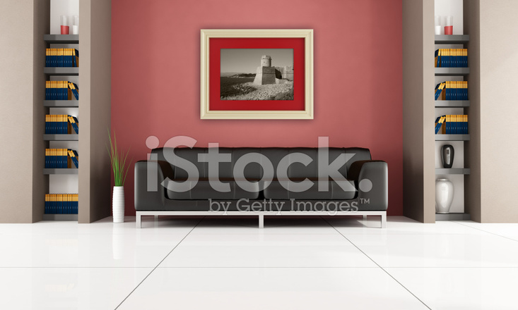 Modern interieur met boekenplank stockfoto s freeimages