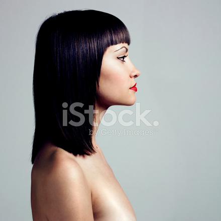 Premium Stock Photo of Profile of Woman With Strict Hairstyle
