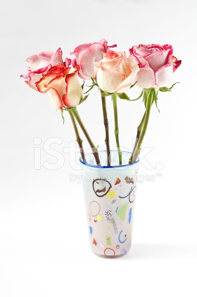 多彩花瓶里的玫瑰 照片素材 Freeimages Com