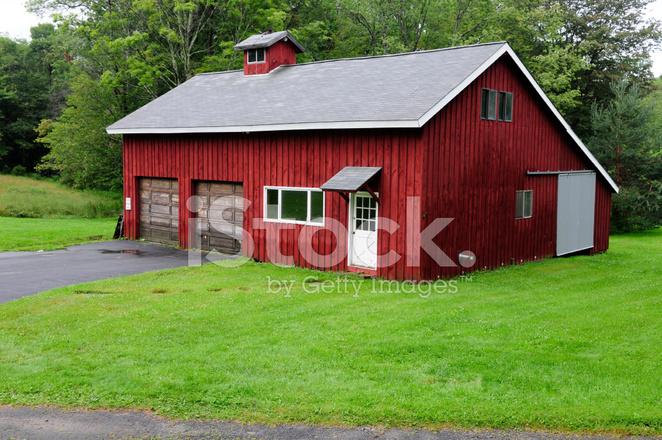 Red Barn House Stock Photos